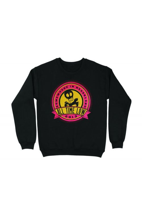 Big Burst Black Crewneck by All Time Low
