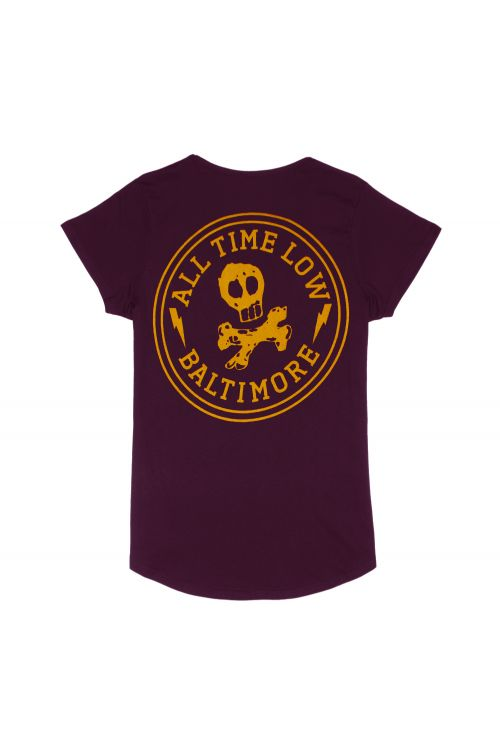 Skull City Cranberry Shirt by All Time Low