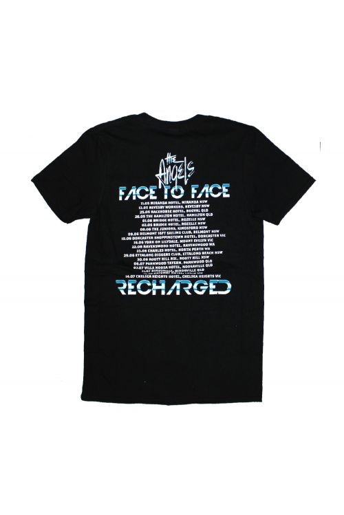Face To Face Recharged Tour Black Tshirt by The Angels