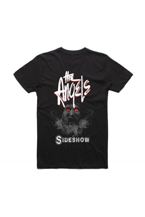 Sideshow Black Tshirt w/dateback by The Angels
