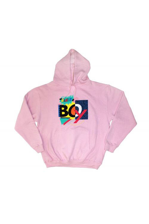 90's Mash Up Pink Hoody by Baker Boy
