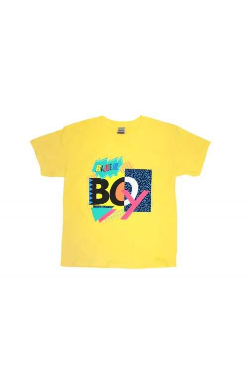 90's Mash Up Yellow Kids Tee by Baker Boy