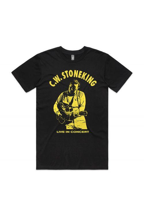 Live in Concert Black Tshirt by C.W. Stoneking