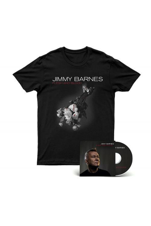 Flesh And Blood CD + Tshirt by Jimmy Barnes