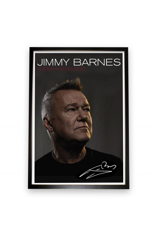 Flesh And Blood CD/DVD (Deluxe Edition) + Framed Signed Lithograph by Jimmy Barnes