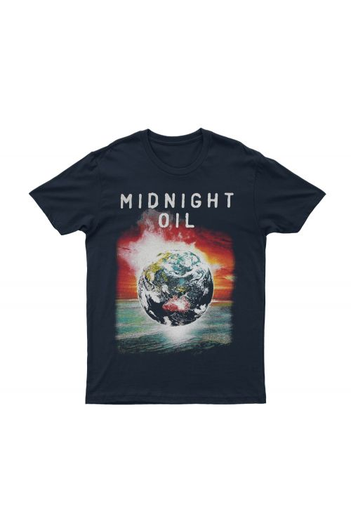 Navy Tshirt The Great Circle 2017 Tour by Midnight Oil