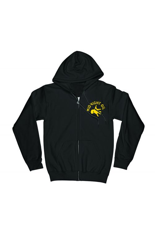 Pocket Hand Black Zip Hoody The Great Circle 2017 Tour by Midnight Oil