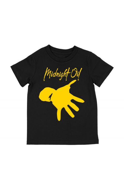 Hand Kids Black Tshirt by Midnight Oil