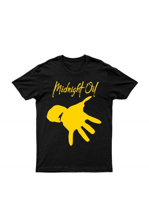 Hand Black Tshirt by Midnight Oil