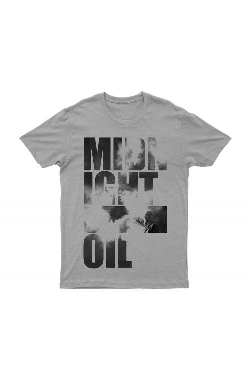 MAKARRATTA STACK LOGO GREY TSHIRT by Midnight Oil