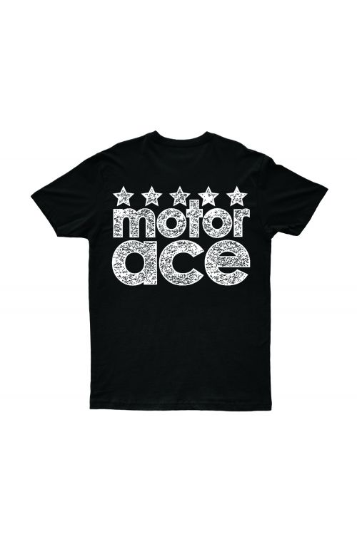5 Star Black Tshirt by Motor Ace