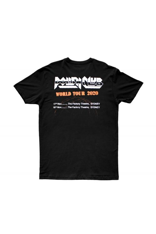 World Tour Black Tshirt by Polish Club