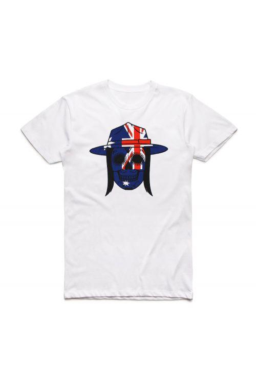 White Skull Aussie Tshirt by Tyga