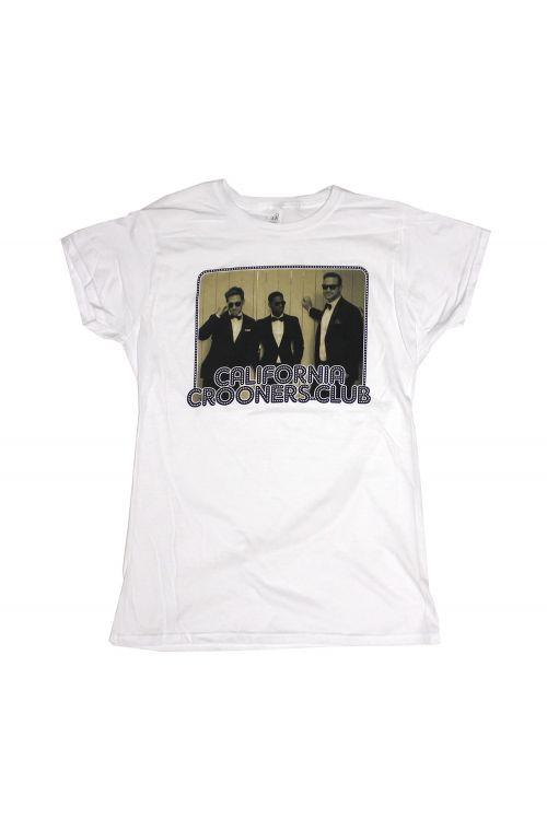 Band Photo White Tshirt by California Crooners Club