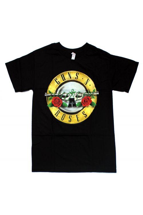 Classic Bullet Logo Black Tshirt by Guns N Roses
