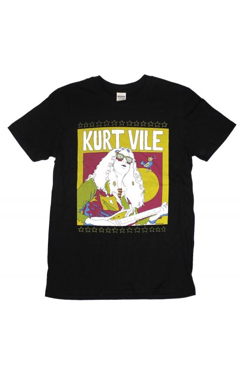 Solo Sketch Black Tshirt by Kurt Vile