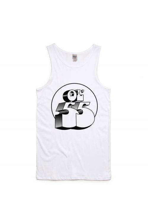 Logo White Singlet/Tank Top by Ol' 55