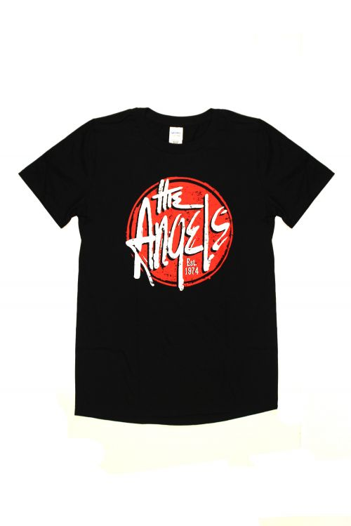 Red Logo Black Tshirt by The Angels