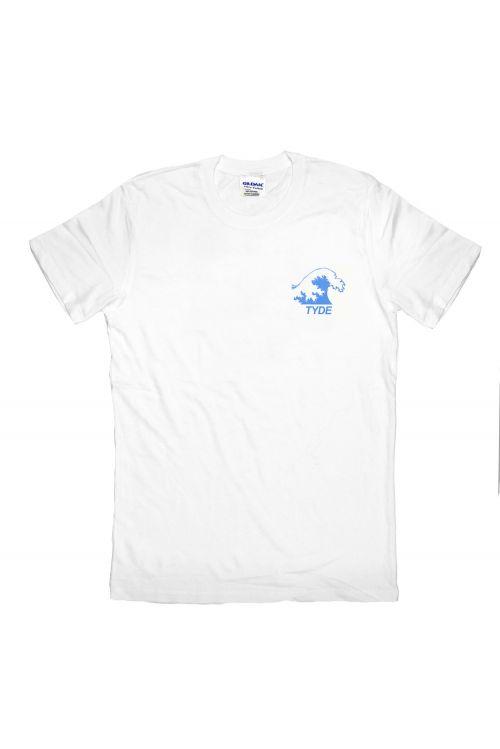 Blue Wave White Tshirt by Tyde Levi