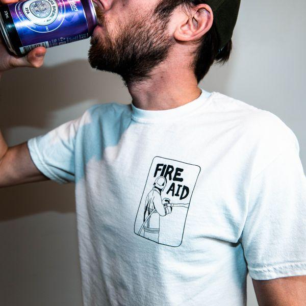 Fire Aid Fundraiser White T Shirt