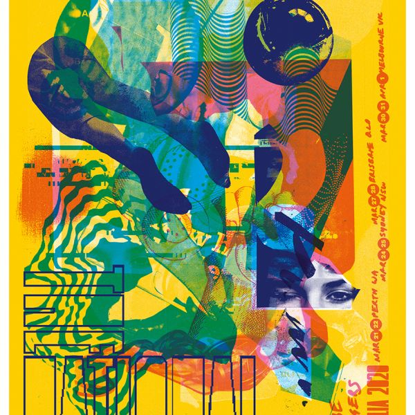 Aus NZ Screen Printed Tour Poster (Proceeds Donated to  Mallacoota Creative Recovery Fund)