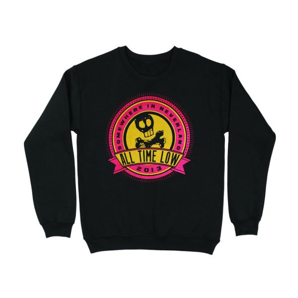 Big Burst Black Crewneck