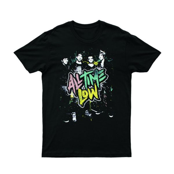 Party On Black Tshirt