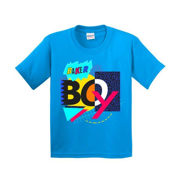 Sapphire Blue 90's Mash Up Kids Tshirt