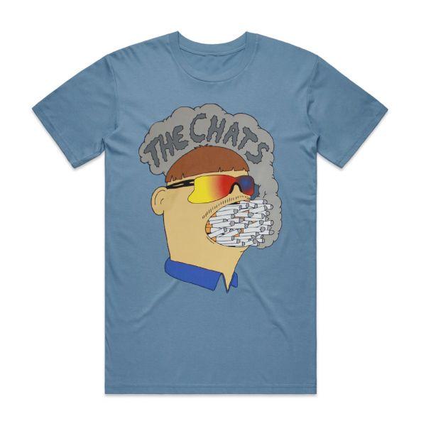 Ciggie Mouth Blue Tshirt