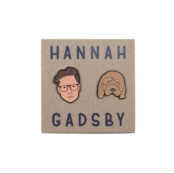 Hannah Gadbsy Face Enamel Pins