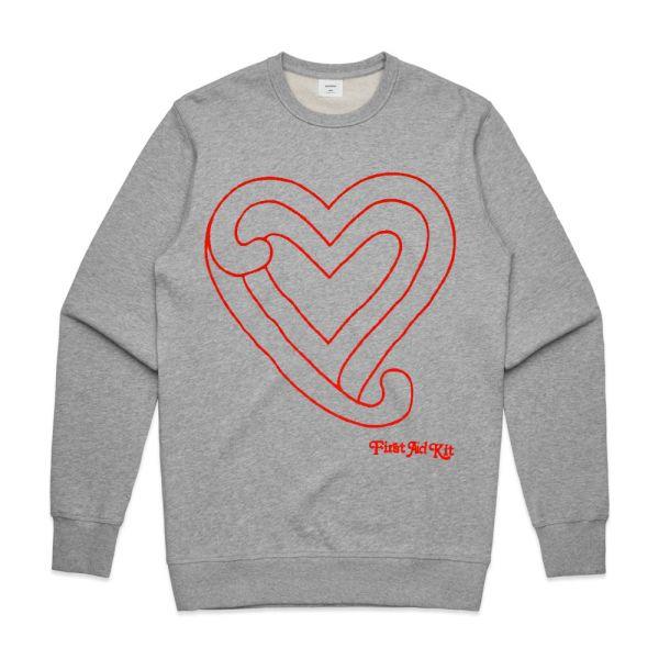 Grey Heart Sweater