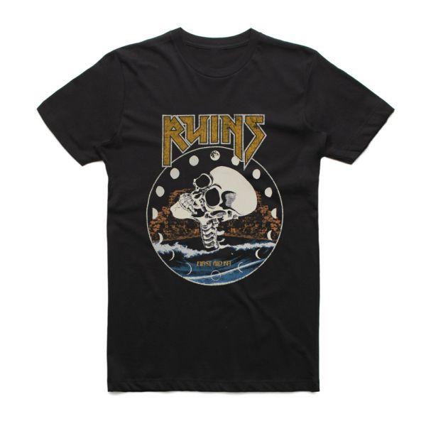 Black Ruins Girls Skull Tshirt
