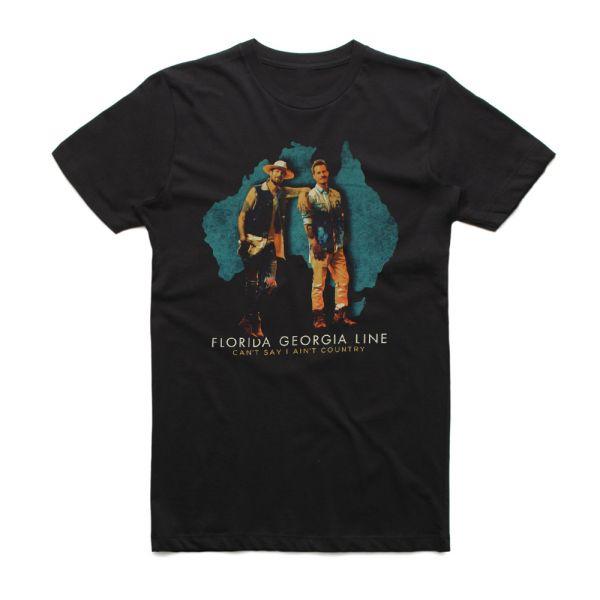 Live Australian Tour Black Tshirt w/dateback