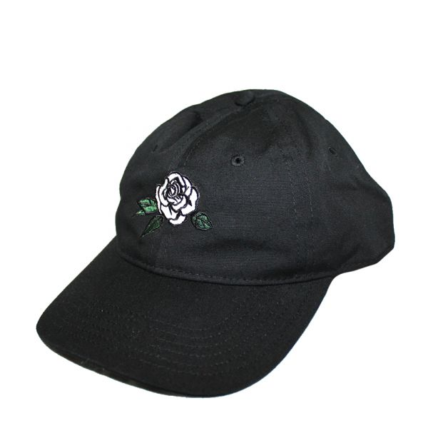 Dad Cap (Black) Emroidered Rose