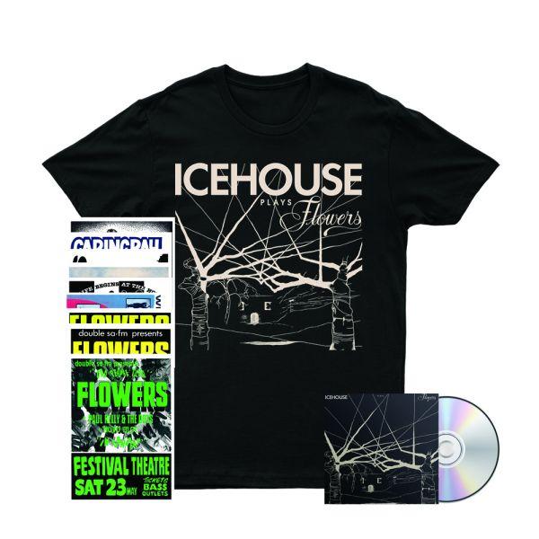 Icehouse Plays Flowers CD/ Tshirt/ Poster Set Bundle