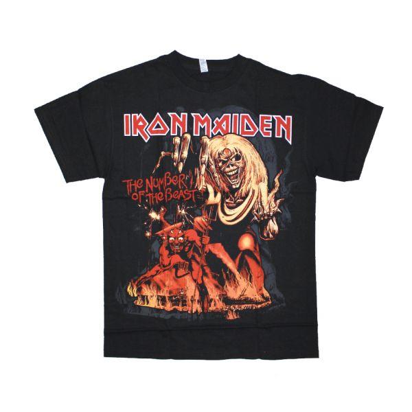 Number Of The Beast Black Tshirt
