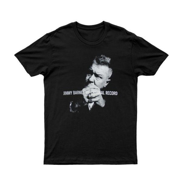 'My Criminal Record' Black T-shirt