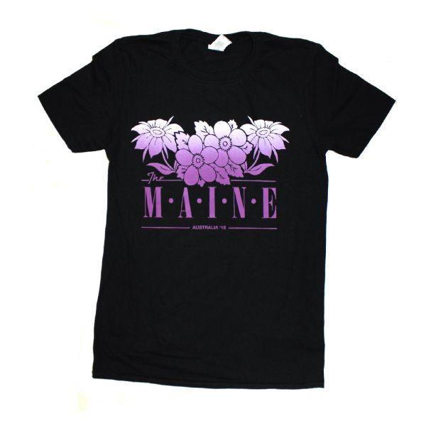 Purple Flowers Black Tshirt 2018 Tour