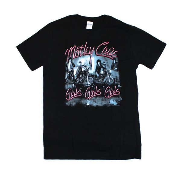 Girls Girls Girls Black Tshirt