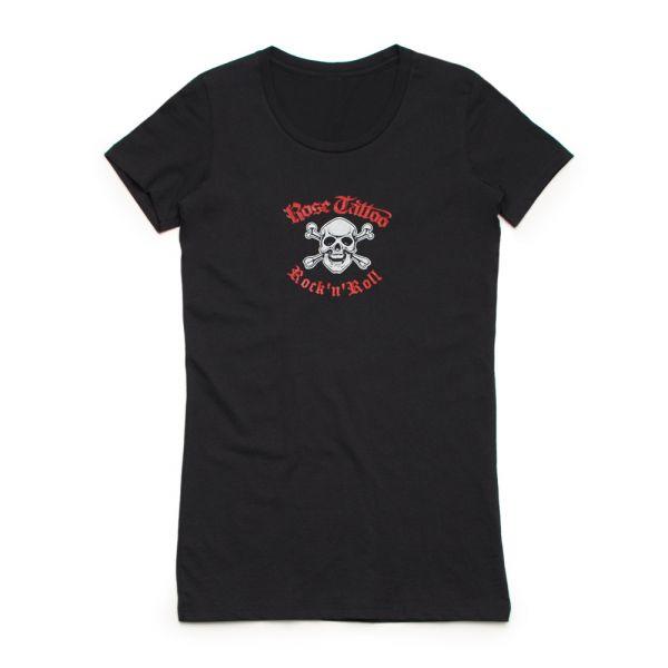 Skull/Crossbones Ladies Black Tshirt (Limited)