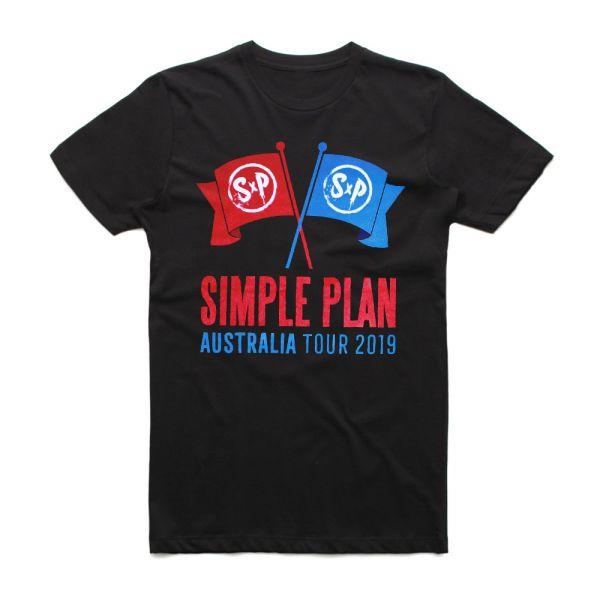 Flags Tour Black Tshirt