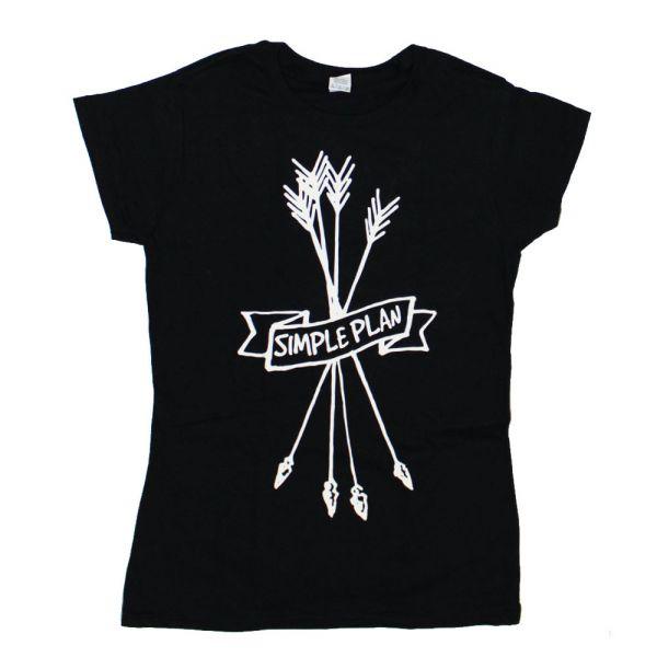 Arrows Girls Black Tshirt