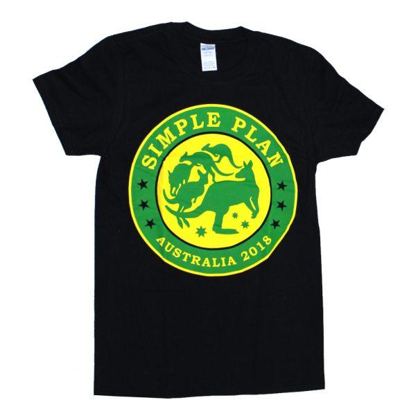 Kangaroo Black Tshirt Australian Tour 2018
