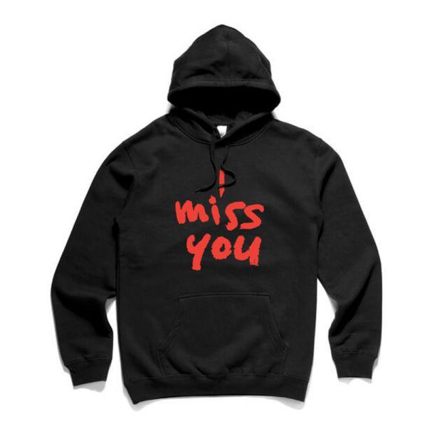 I Miss You Black Hoody