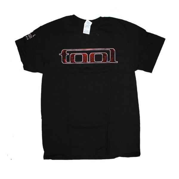 Red Pattern Tool Black Tshirt