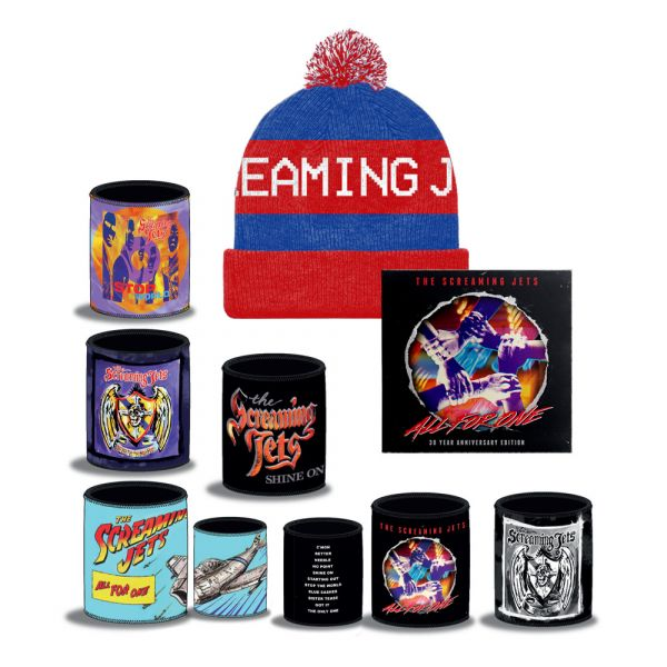 All For One - 30 Year Anniversary Edition CD+ Blue/Red Beanie + Stubby Bundle Pack