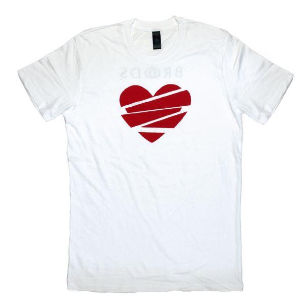Heart Lines White Tshirt