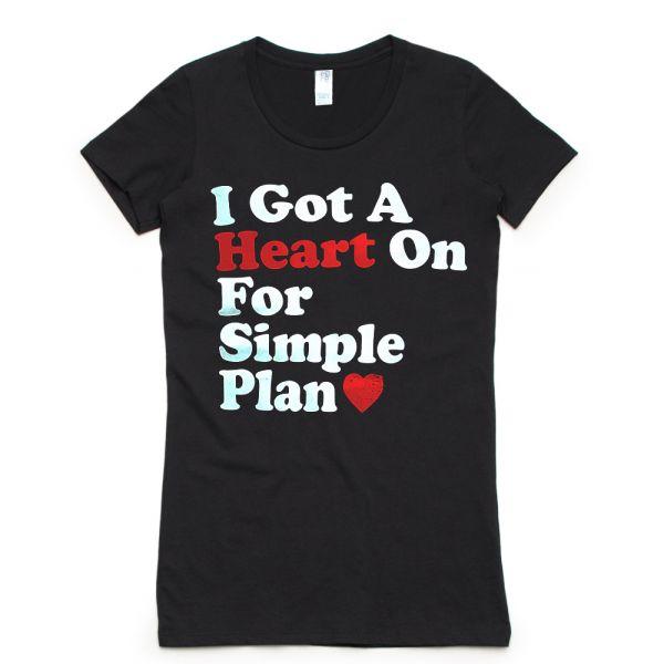 Heart On Black Tshirt