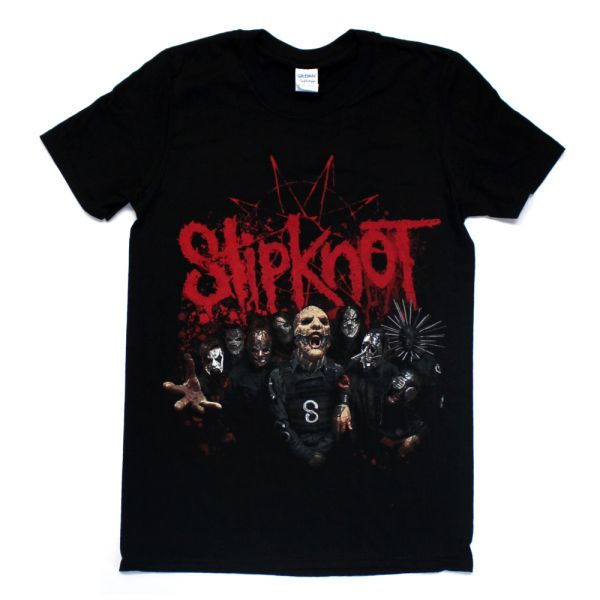 Photo Splatter Black Tshirt